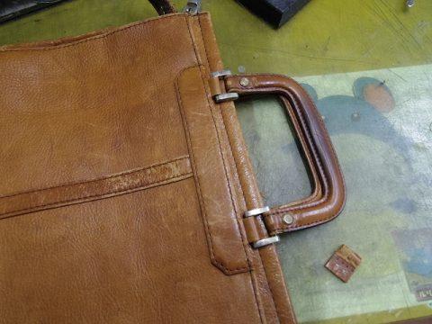 バッグ 持ち手補修例 3