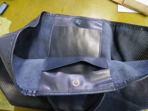 バッグ マグネットホックの新規取り付け例 3