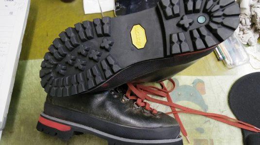 登山靴 オールソール例 3-2