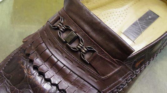犬にかじられた靴の修理例 3-1
