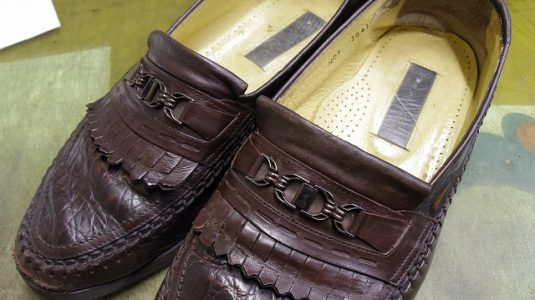 犬にかじられた靴の修理例 3-2