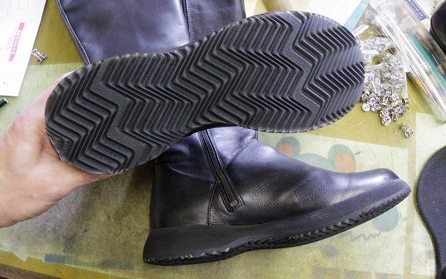 CAMPER ブーツ オールソール例