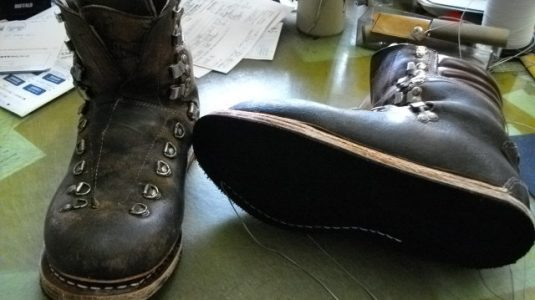 登山靴修理例 3-2