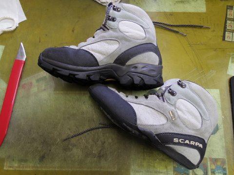 SCARPA 登山靴修理例です 2