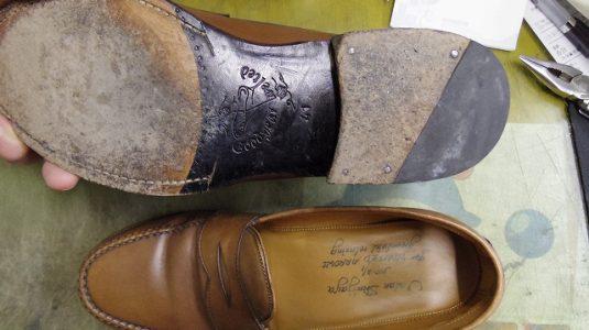 紳士靴 トップリフト交換 2-2