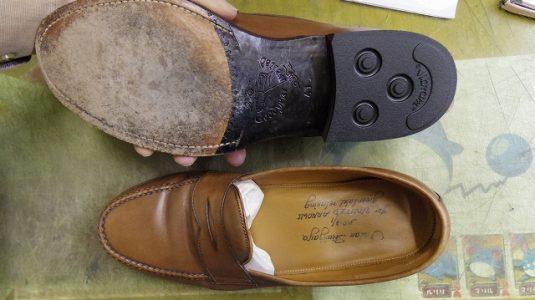 紳士靴 トップリフト交換 3-2