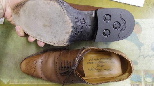 紳士靴 トップリフト交換 3-1