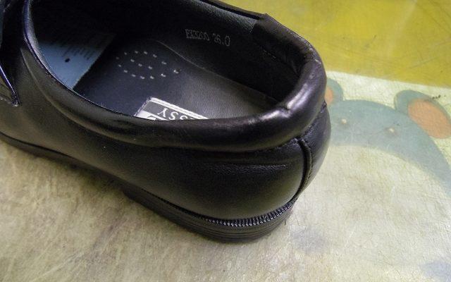 履き口の破れ補修例