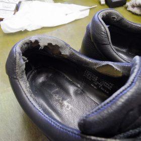 履き口破れ 補修例