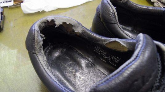 履き口破れ 補修例 2-1