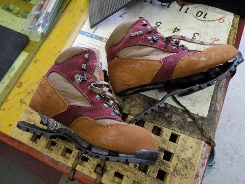 登山靴 オールソール 2