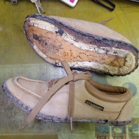 ポリウレタンソール靴のオールソール例