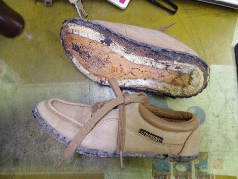 ポリウレタンソール靴のオールソール例 2