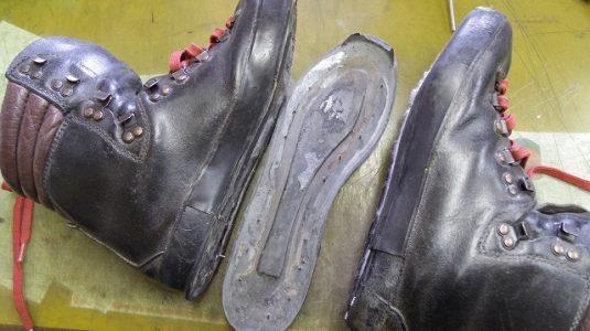 登山靴 オールソール例 2-1