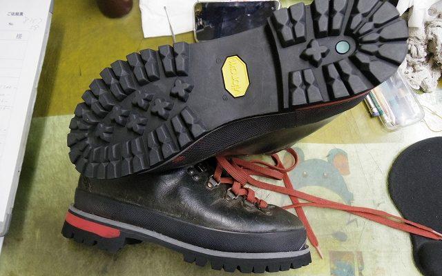 登山靴 オールソール例