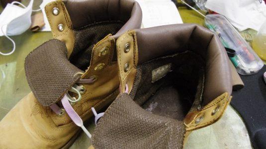 ティンバーランド 履き口交換例 3-2
