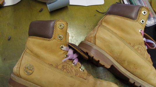 ティンバーランド 履き口交換例 3-1