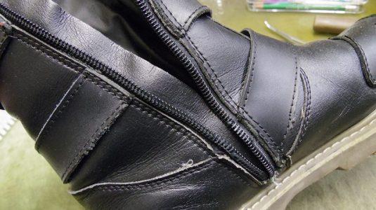 ライディングブーツ ファスナー交換例 2-1