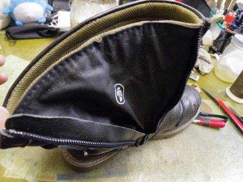 ライディングブーツ ファスナー交換例 3