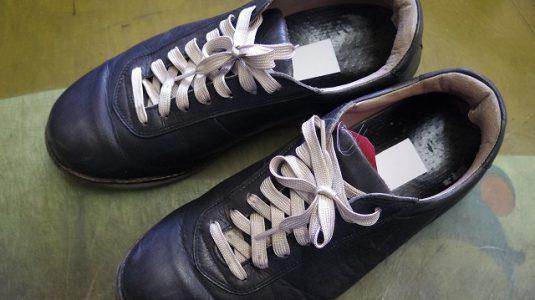 革製スニーカー ライニング(すべり革)補修例 2-1
