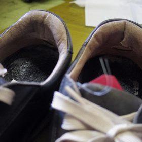 革製スニーカー ライニング(すべり革)補修例