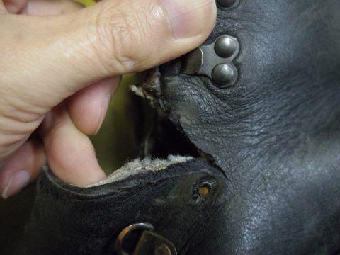 ブーツ 破れ補修例 2-3