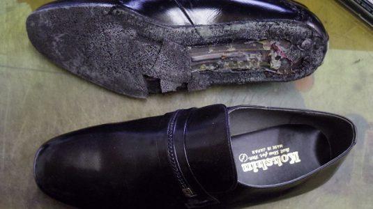 紳士靴 ポリウレタンソール 交換例 2-1