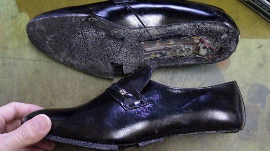 紳士靴 ポリウレタンソール 交換例 2-2