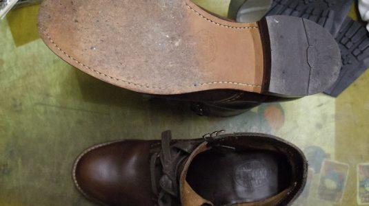 紳士ブーツ ハーフソール例 2-1