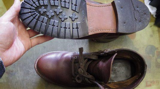 紳士ブーツ ハーフソール例 3-1