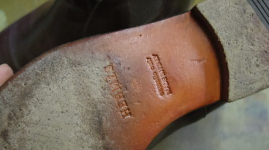 エルメス ブーツ サイドゴア交換例 2-2