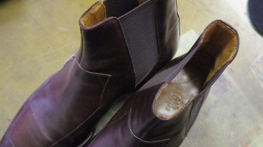 エルメス ブーツ サイドゴア交換例 4-2