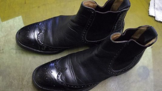 紳士ブーツ ソールカスタム例 2-1