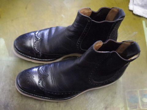 紳士ブーツ ソールカスタム例 3-1