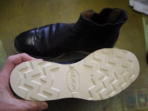 紳士ブーツ ソールカスタム例 3-2