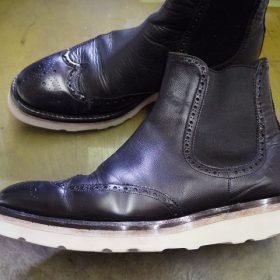 紳士ブーツ ソールカスタム例