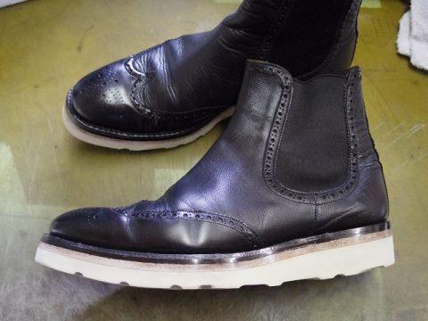 紳士ブーツ ソールカスタム例 3-3