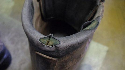 登山靴 履き口補修例 2-4