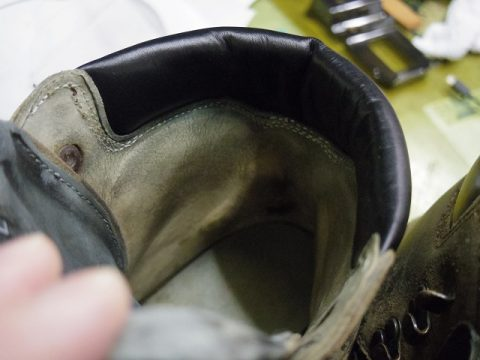 登山靴 履き口補修例 3-3