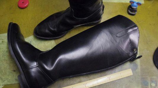 乗馬用ブーツをライディングブーツに改造 2-2