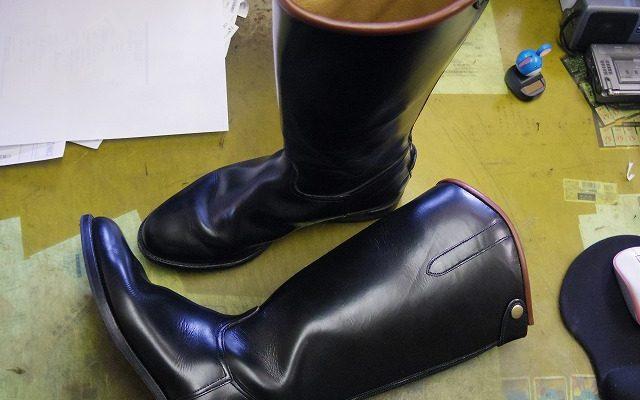 乗馬用ブーツをライディングブーツに改造