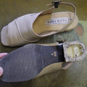 婦人靴かかと修理例