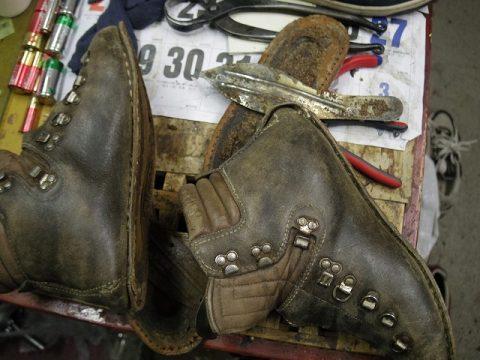 登山靴 分解修理例 2-1
