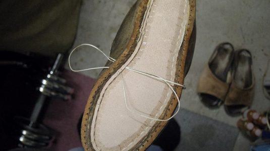 登山靴 分解修理例 3-4