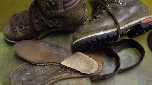 登山靴 分解修理例 4-4