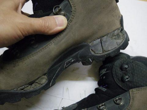 ナイキ トレッキングブーツ修理例 2-2