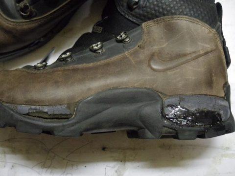 ナイキ トレッキングブーツ修理例 2-3