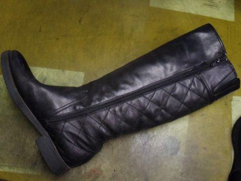 婦人ブーツ ファスナー交換例 2-1