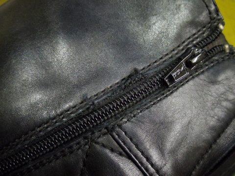 婦人ブーツ ファスナー交換例 2-2