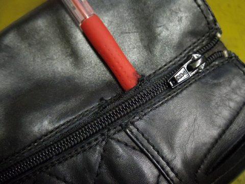 婦人ブーツ ファスナー交換例 2-3